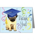 pug_graduate_thank_you_note_cards_pk_of_20