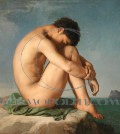 Hippolyte Flandrin's Young Male Nude Seated Beside the Sea