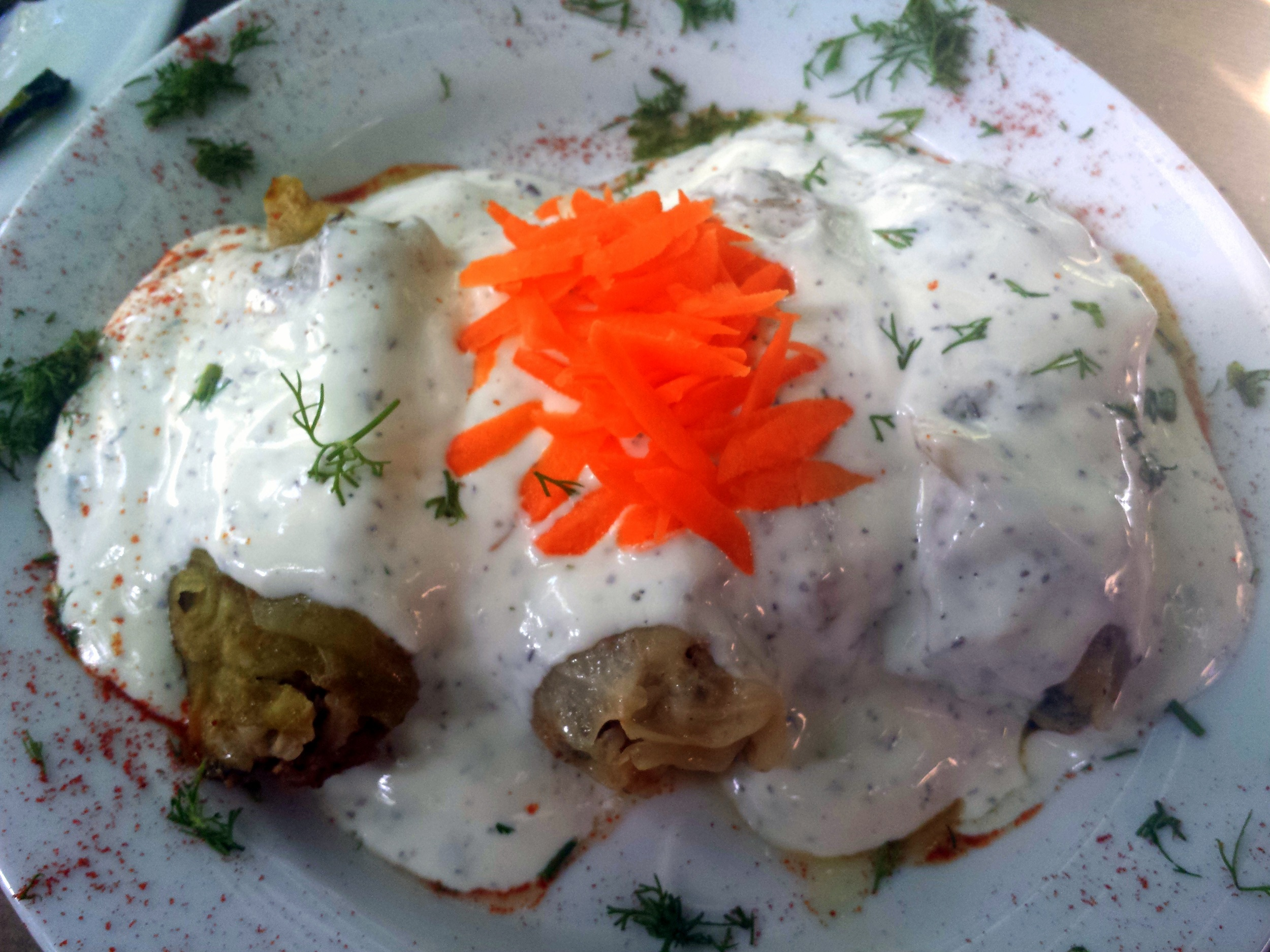 Συνταγή: λαχανοντολμάδες της μαμάς με σως γιαούρτι