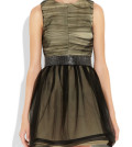 Round neck sleeveless concept of belt dress