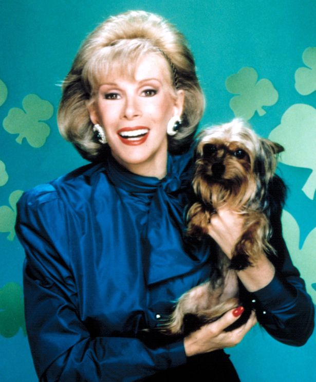 Joan Rivers and dog Spike