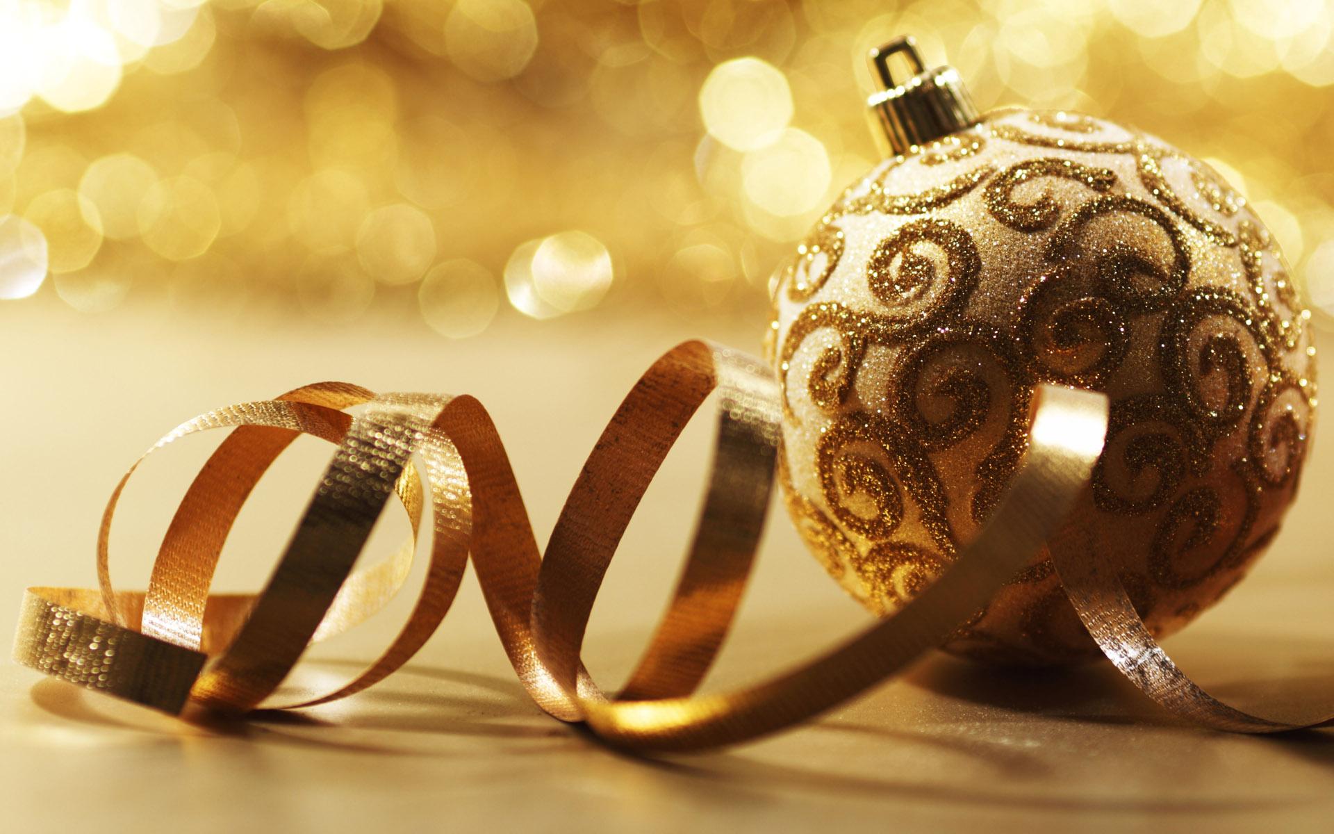 golden christmas card