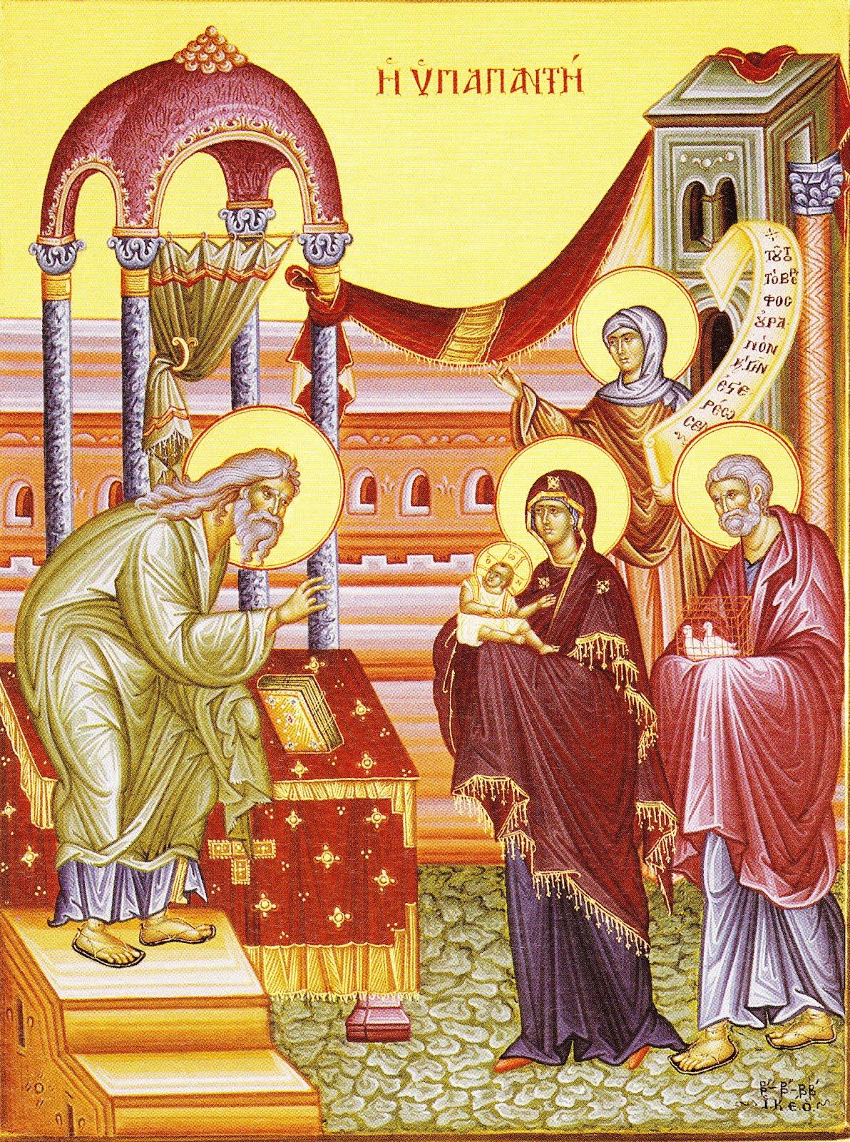 2 Φεβρουαρίου: η Υπαπαντή του Χριστού, 40 μέρες μετά τη γέννησή του