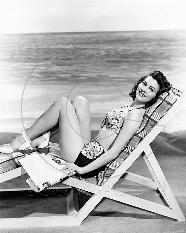 Ava Gardner deck chair 1945