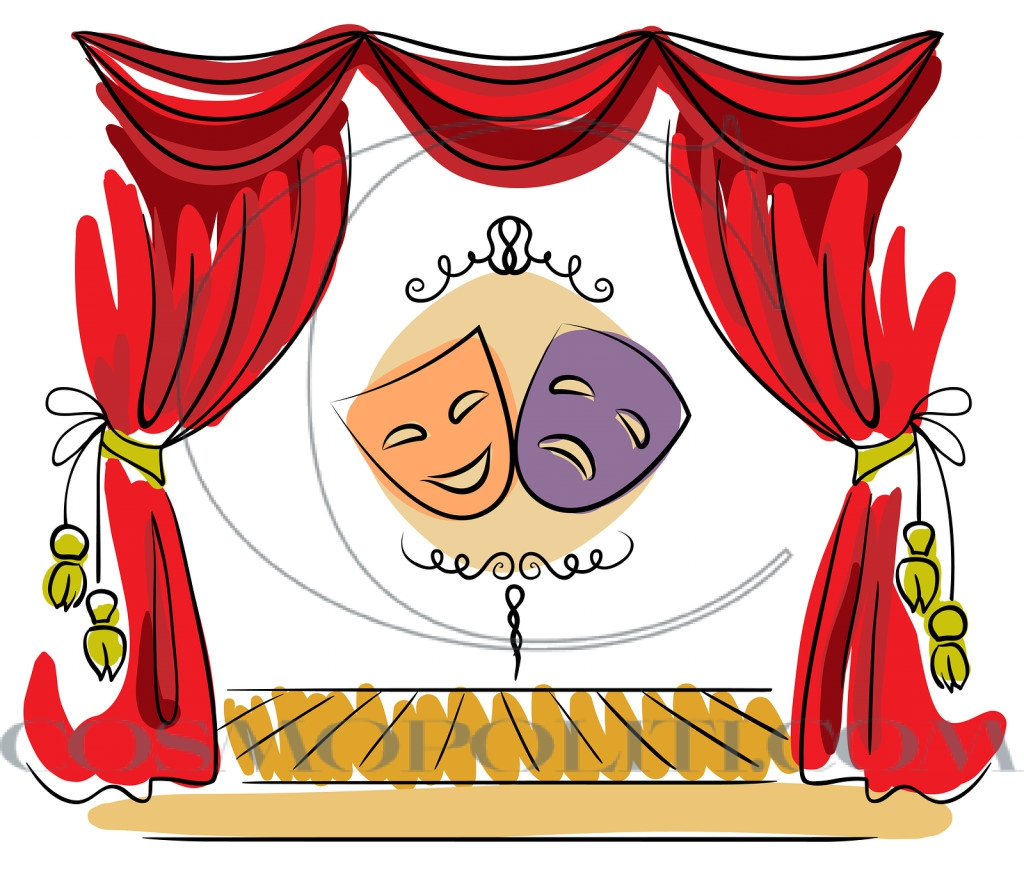 Theater stage vector illustration