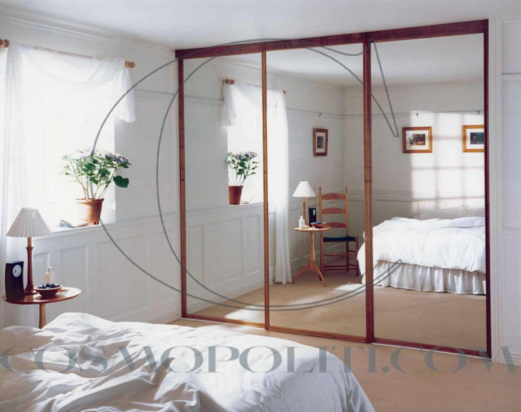 movable-glass-wall-door-for-bedroom-with-wooden-frame-nice-looking-simple-bedroom-with-cool-glass-door