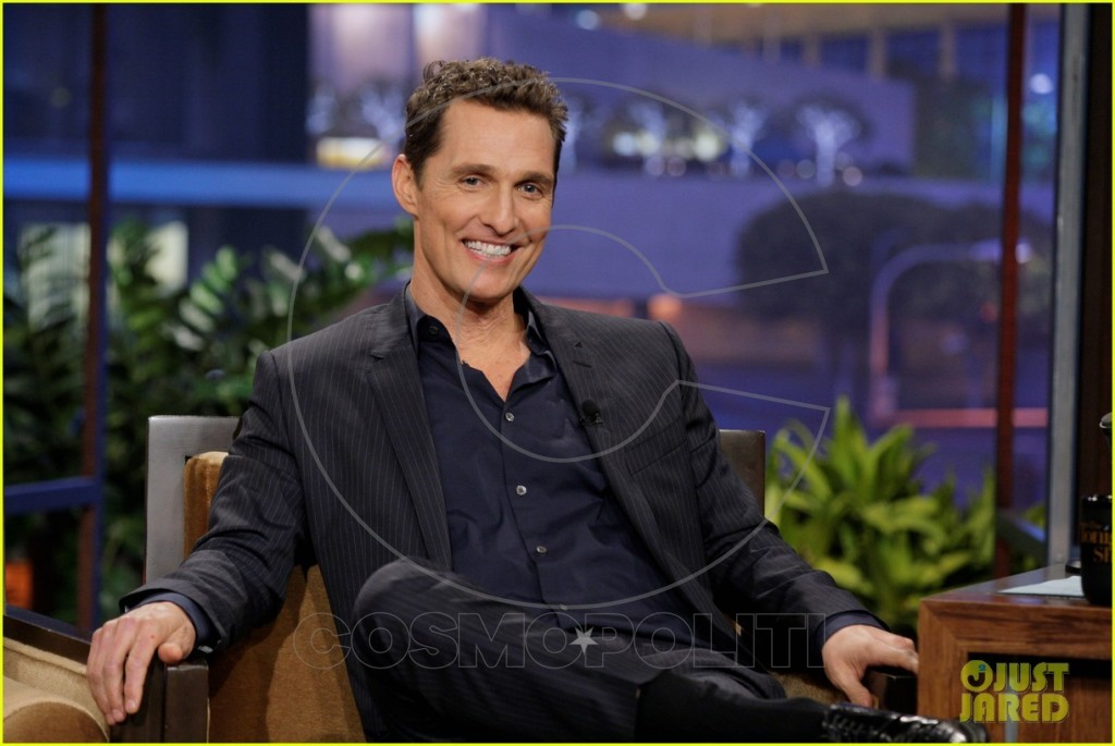 THE TONIGHT SHOW WITH JAY LENO -- Episode 4557 -- Pictured: Actor Matthew McConaughey during an interview on October 31, 2013 -- (Photo by: Stacie McChesney/NBC/NBCU Photo Bank via Getty Images)