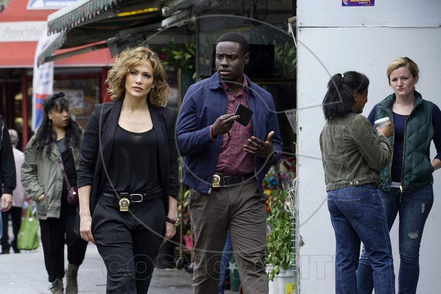 SHADES OF BLUE -- Episode 101 -- Pictured: (l-r)  Jennifer Lopez as Detective Harlee Santos, Dayo Okeniyi as Michael Loman -- (Photo by: Peter Kramer/NBC)