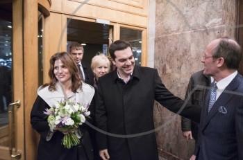 Η Χριστουγεννιάτικη έξοδος του Πρωθυπουργού Αλέξη Τσίπρα και της Μπέτυς Μπαζιάνα