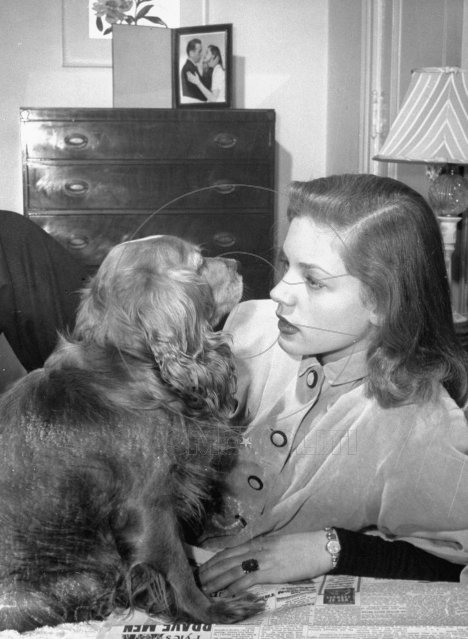 lauren-bacall-and-dog
