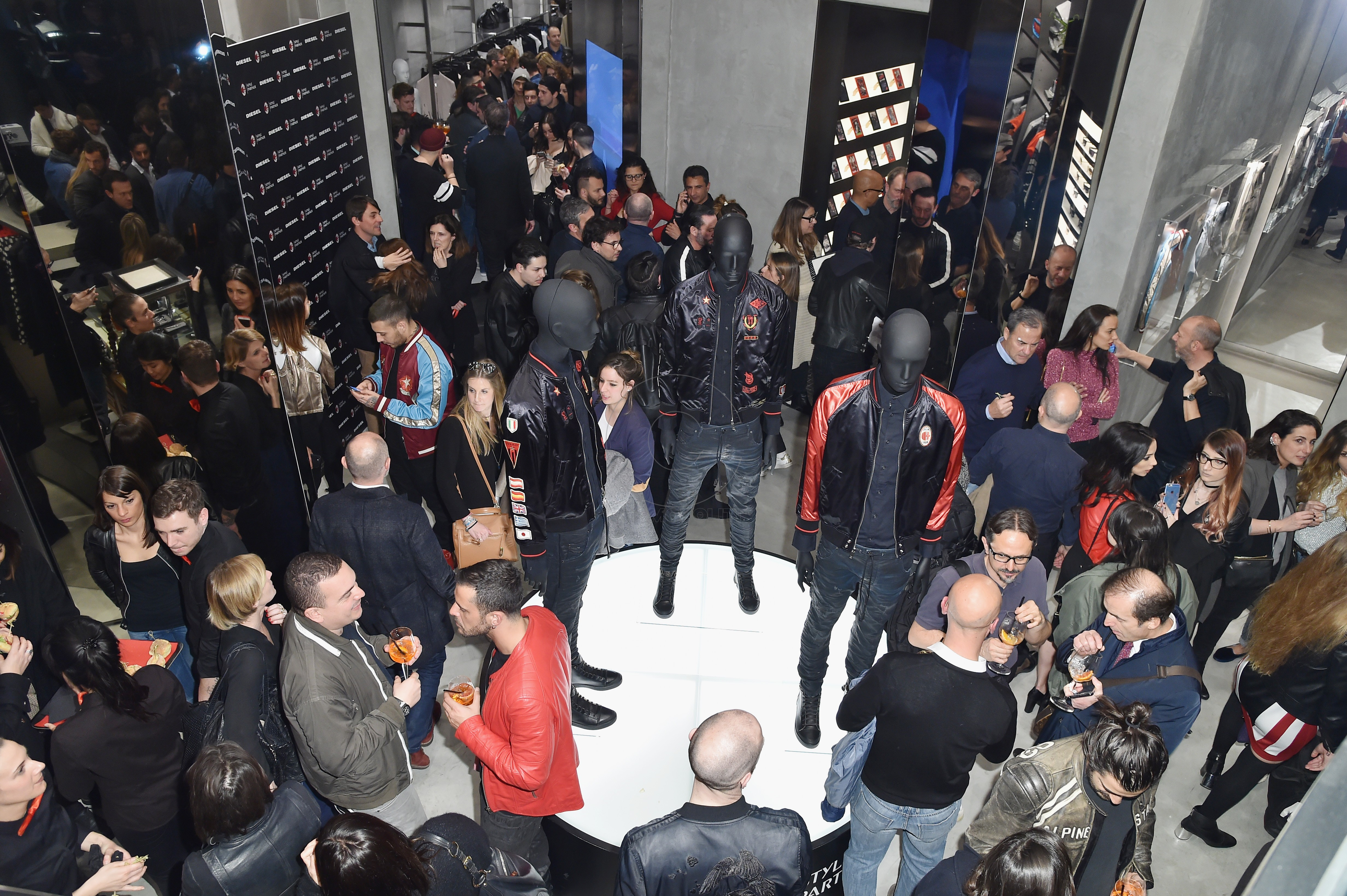 MILAN, ITALY - MARCH 14: General view of The New Bomber Presentation at the Diesel Store on March 14, 2017 in Milan, Italy. (Photo by Jacopo Raule/Getty Images for Diesel)