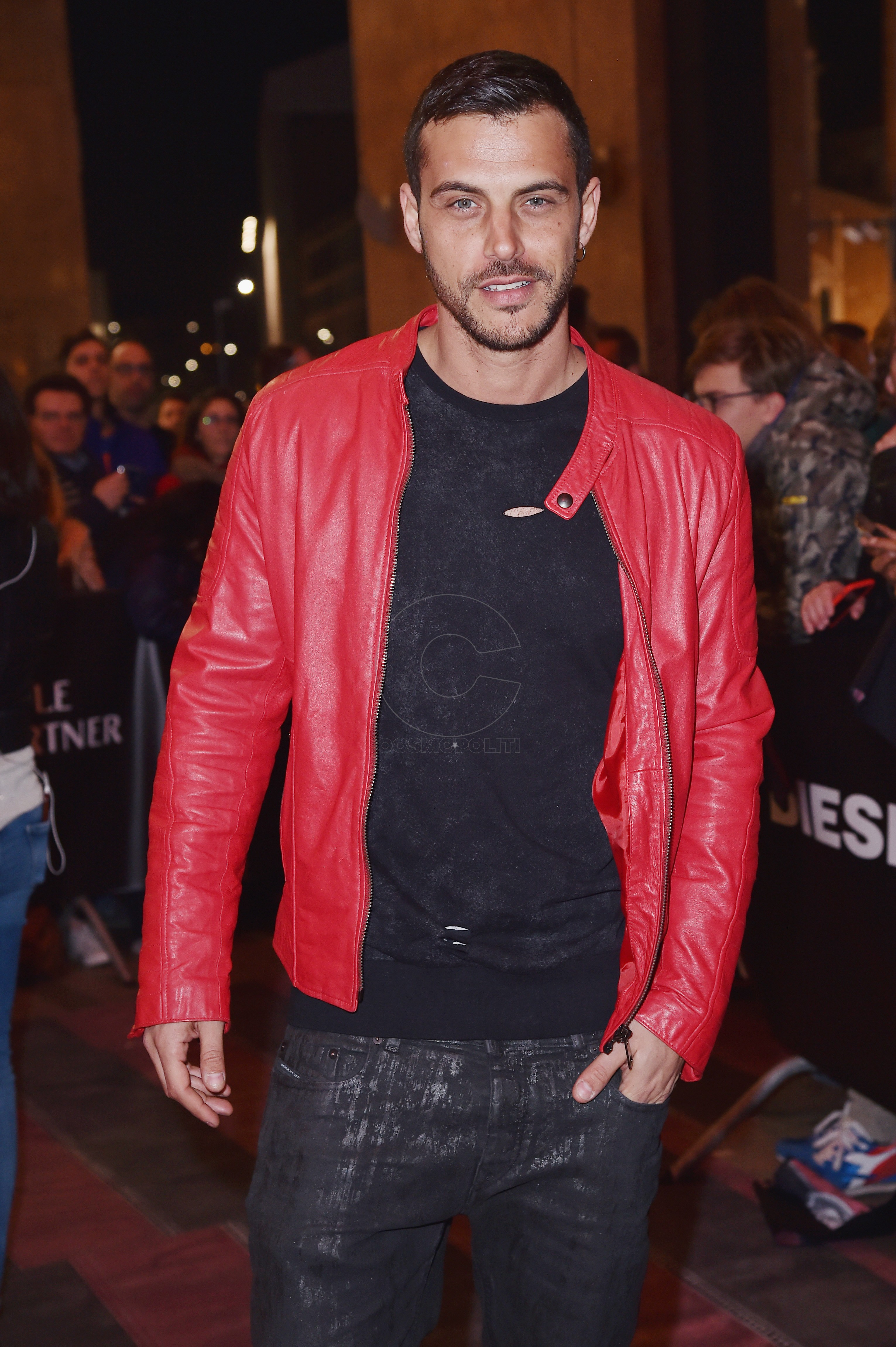 MILAN, ITALY - MARCH 14: Andrea Montovoli attends The New Bomber Presentation at the Diesel Store on March 14, 2017 in Milan, Italy. (Photo by Jacopo Raule/Getty Images for Diesel)