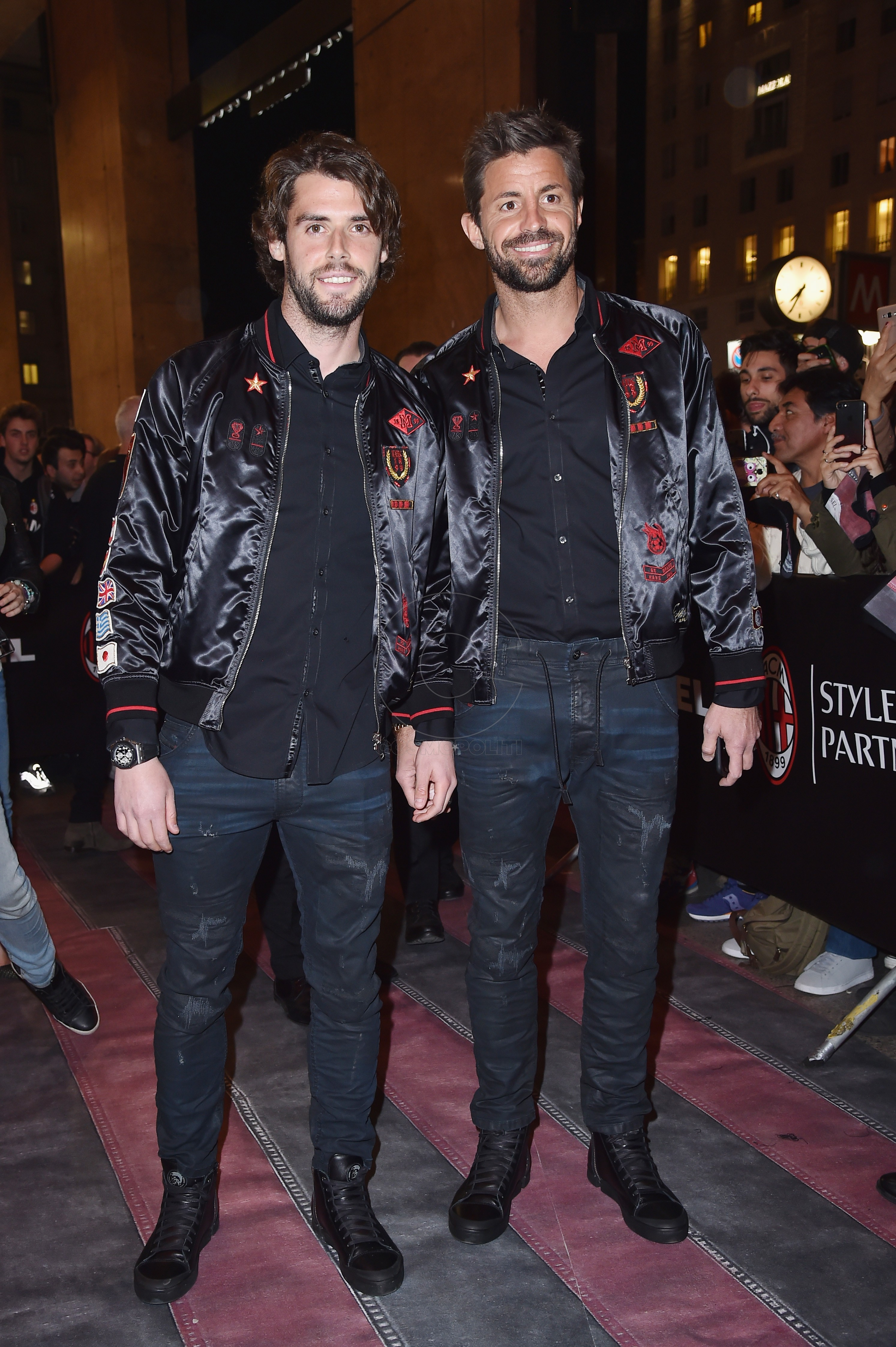 MILAN, ITALY - MARCH 14: Andrea Poli and Marco Storari attend The New Bomber Presentation at the Diesel Store on March 14, 2017 in Milan, Italy. (Photo by Jacopo Raule/Getty Images for Diesel)