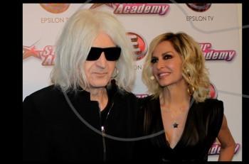 Άννα Βίσση & Νίκος Καρβέλας στο stage του 3ου Star Academy live!