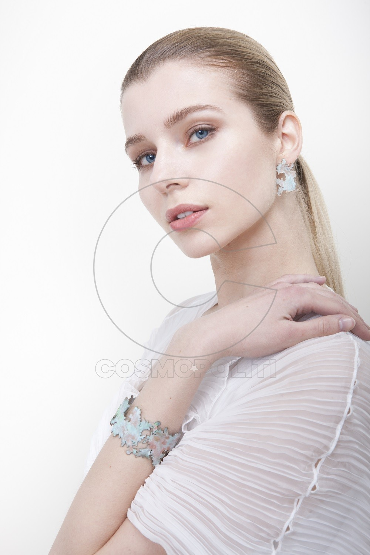 Acanthus bracelet & earrings