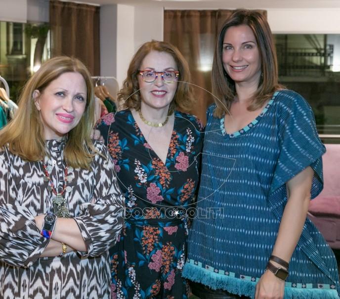 3 Η Καλλιόπη Καρβούνη με τη Στέλλα Πράπα του Ιάκεντρο & τη Δήμητρα Τσαβδάρογλου