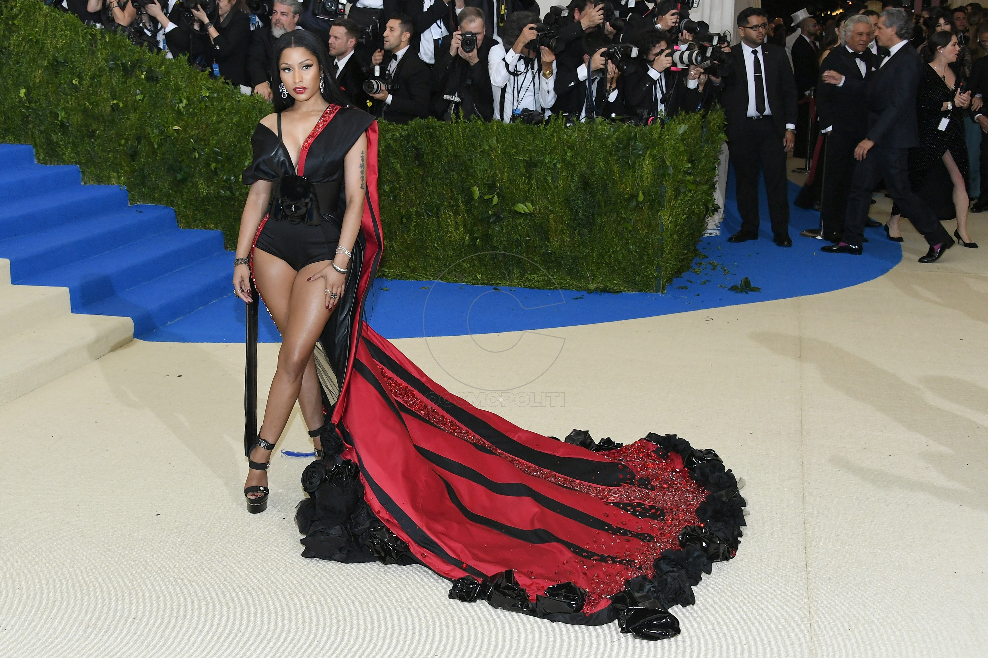 "NEW YORK, NY - MAY 01:  Nicki Minaj attends the ""Rei Kawakubo/Comme des Garcons: Art Of The In-Between"" Costume Institute Gala at Metropolitan Museum of Art on May 1, 2017 in New York City.  (Photo by Dia Dipasupil/Getty Images For Entertainment Weekly)"