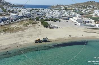 Kαθαρές οι παραλίες στη Μύκονο