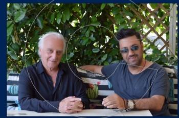 Γιώργος Χατζηνάσιος & Γιώργος Θεοφάνους: βόλτα στο Πασαλιμάνι πριν τη συναυλία