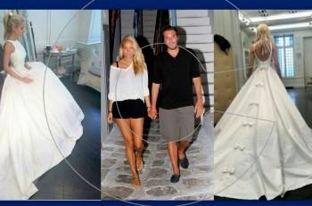 Δούκισσα Νομικού & Δημήτρης Θεοδωρίδης: ονειρικός γάμος με φόντο το νησί των ανέμων