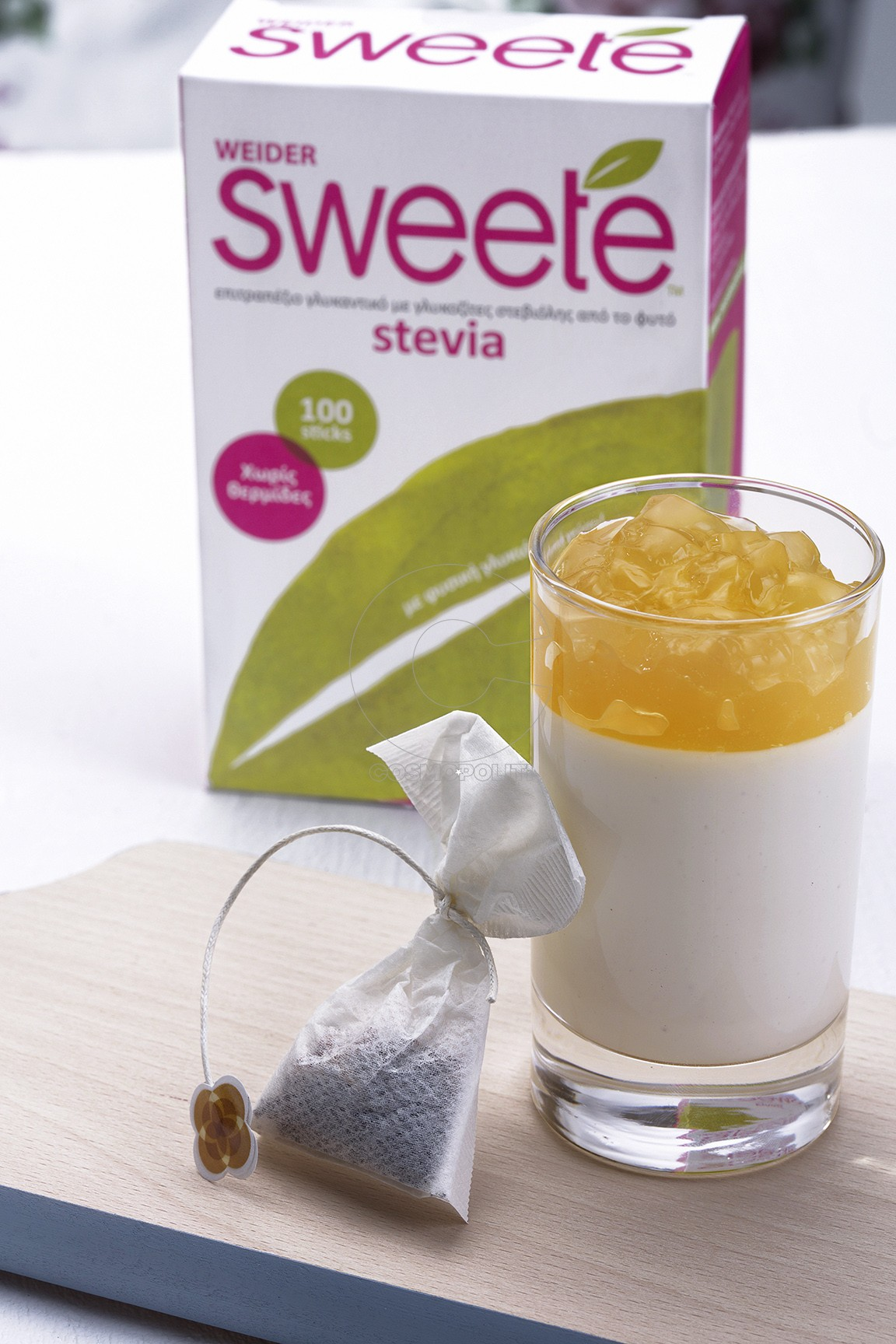 Πανακότα με γιαούρτι και τσάι γιασεμί