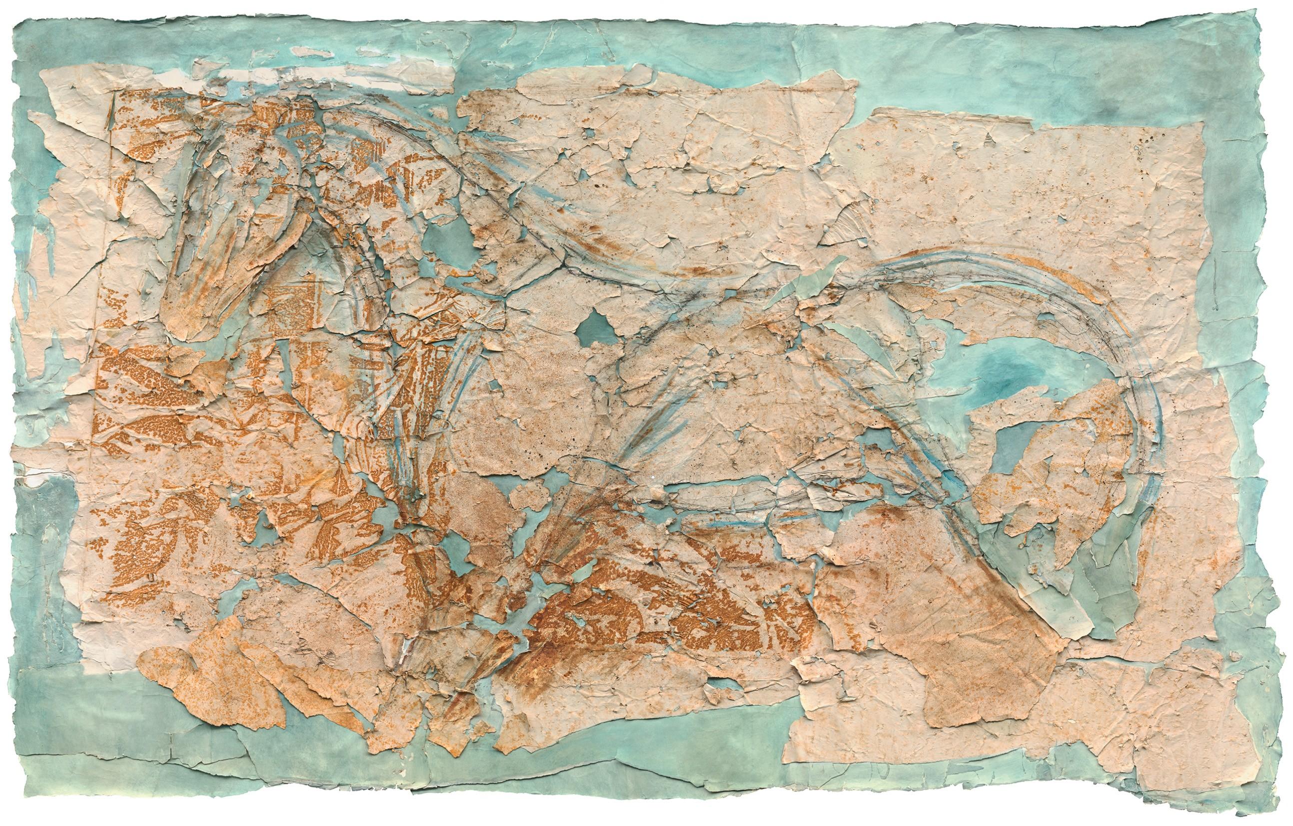 09_Άλογο στο Γαλάζιο, 2005-15, 177x285_Μικτή Τεχνική σε Χαρτί