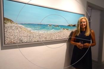 """Πάτμος: Εγκαίνια της έκθεσης """"Στο νερό"""" της Μαρίας Φιλοπούλου"""