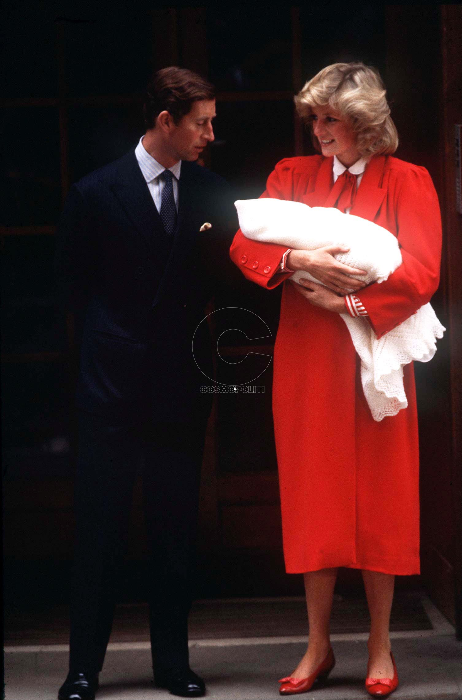 LONDON, UNITED KINGDOM - SEPTEMBER 17: Princess Diana Holding Baby Prince Harry As She And Prince Charles Leave St. Marys Hospital In London. (Photo by Tim Graham/Getty Images)