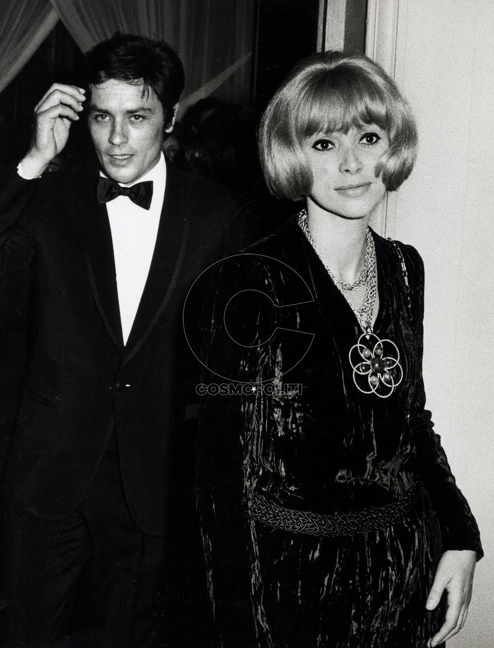 Alain Delon and Mireille Darc (Photo by Ron Galella/WireImage)