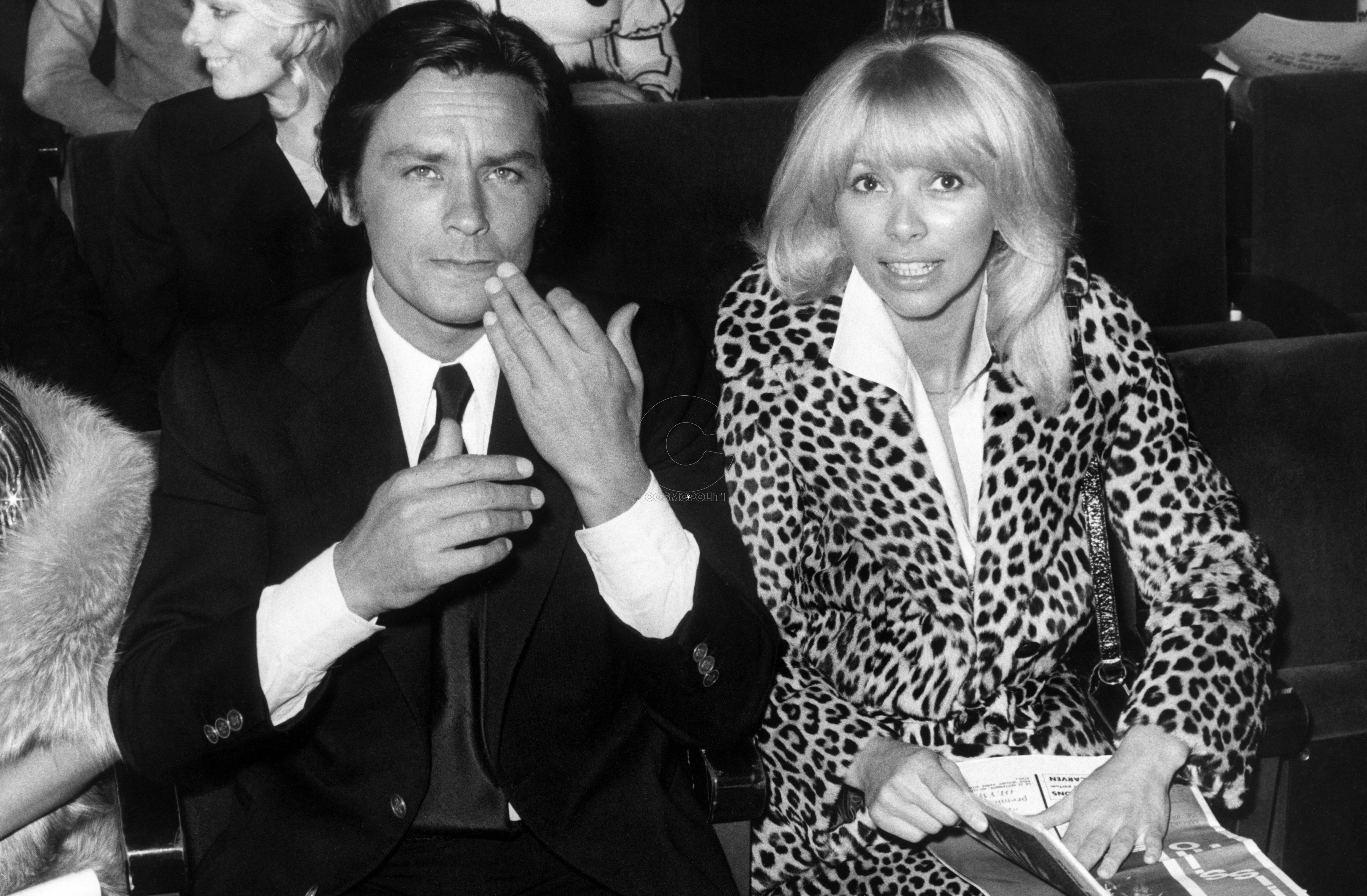 Alain Delon and Mireille Darc in 1974. Photo by DPA/ABACAPRESS.COM  | 242437_001