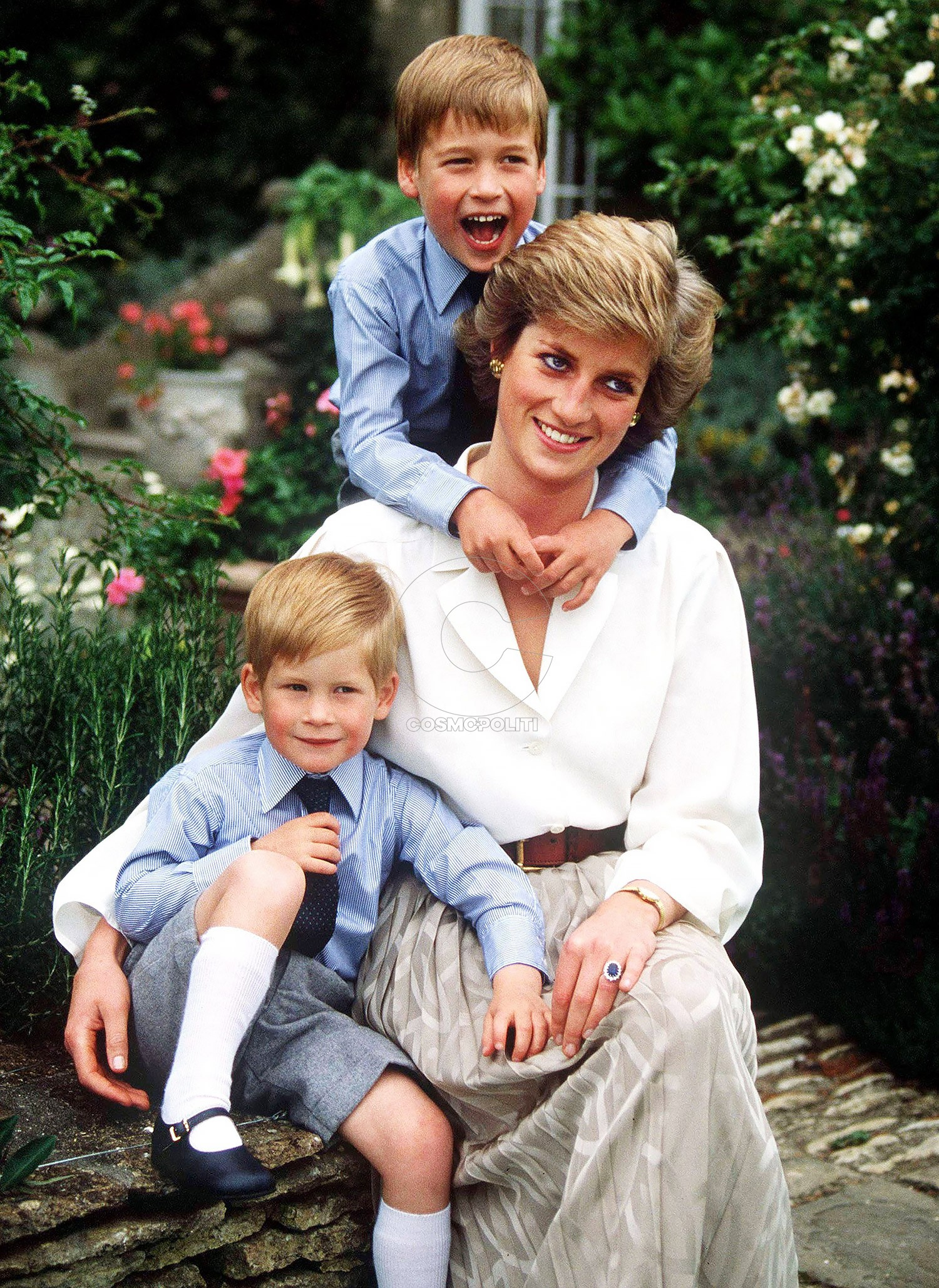 RGB 19213345 D 23646-04 NEW CREDIT: A.G. Carrick/DIANA MEMORIAL FUND/ GETTY (collection recently sold to getty 5/07) Princess of Wales and sons, Prince William and Prince Harry. Obligatory Credit - CAMERA PRESS/A.G. Carrick/Diana Memorial Fund. SPECIAL PRICE APPLIES - CONSULT CAMERA PRESS OR ITS LOCAL AGENT. Official portrait of Britain's HRH The Princess of Wales with sons, Princess William (older) and Prince Harry at home in Highgrove, Gloucestershire, in August 1988, on the occasion of Prince Charles' 40th birthday. Princess Diana died in a car crash in Paris on August 31 1997. See Also: RCOD 332 and D 23645 1988 *** USA ONLY *** Prince William & Prince Harry & Princess Diana Princess Diana Retrospective