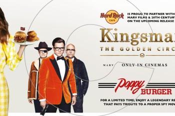 """Poppy Burger"" εμπνευσμένο από τη νέα ταινία  ""Kingsman: The Golden Circle"" στο Hard Rock Cafe Athens"