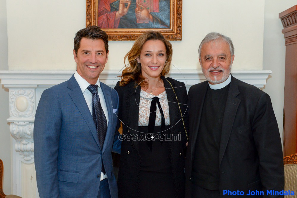 Sakis with Fr. Alex Karloutsos