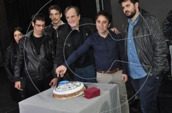 """Κοπή πίτας στο θέατρο Ακροπόλ για τον """"Τσάρλι Τσάπλιν"""""""