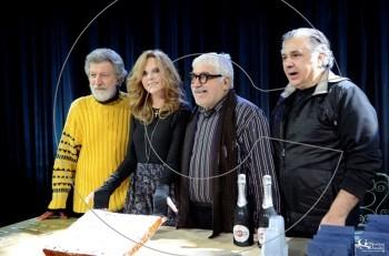 """Οι """"Ήρωες"""" έκοψαν πίτα για το 2018 στο Νέο Θέατρο Κατερίνα Βασιλάκου"""
