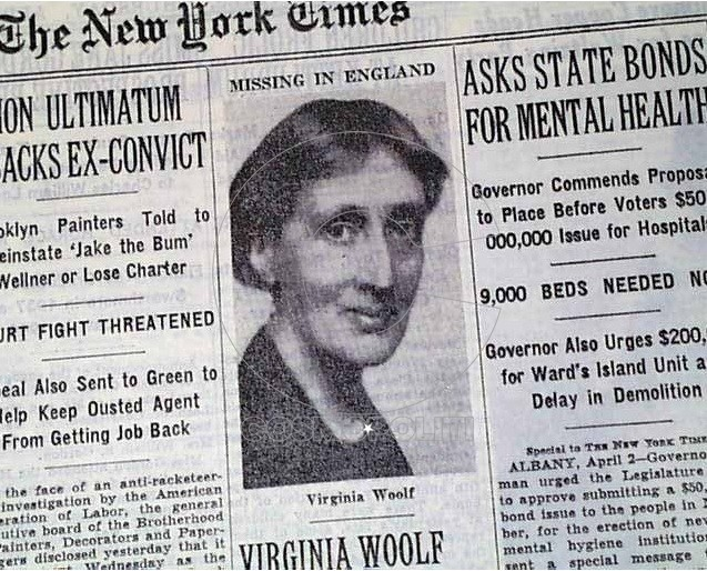 Virginia-Woolf-New-York-Times-Missing-In-England-April-3-1941
