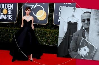 """Συγχαρητήρια! Ο Βασίλης Ζούλιας στην κορυφή του """"Us Weekly"""" με την εμφάνιση της Alison Brie στις Χρυσές Σφαίρες 2018"""