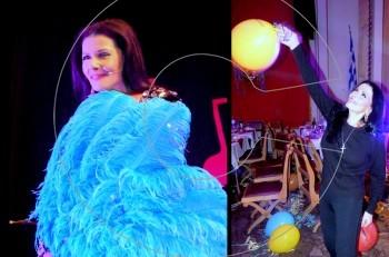 Μάγεψε η φαντασμαγορική Ζωζώ Σαπουντζάκη στον Αποκριάτικο Χορό της Εστίας Νέας Σμύρνης