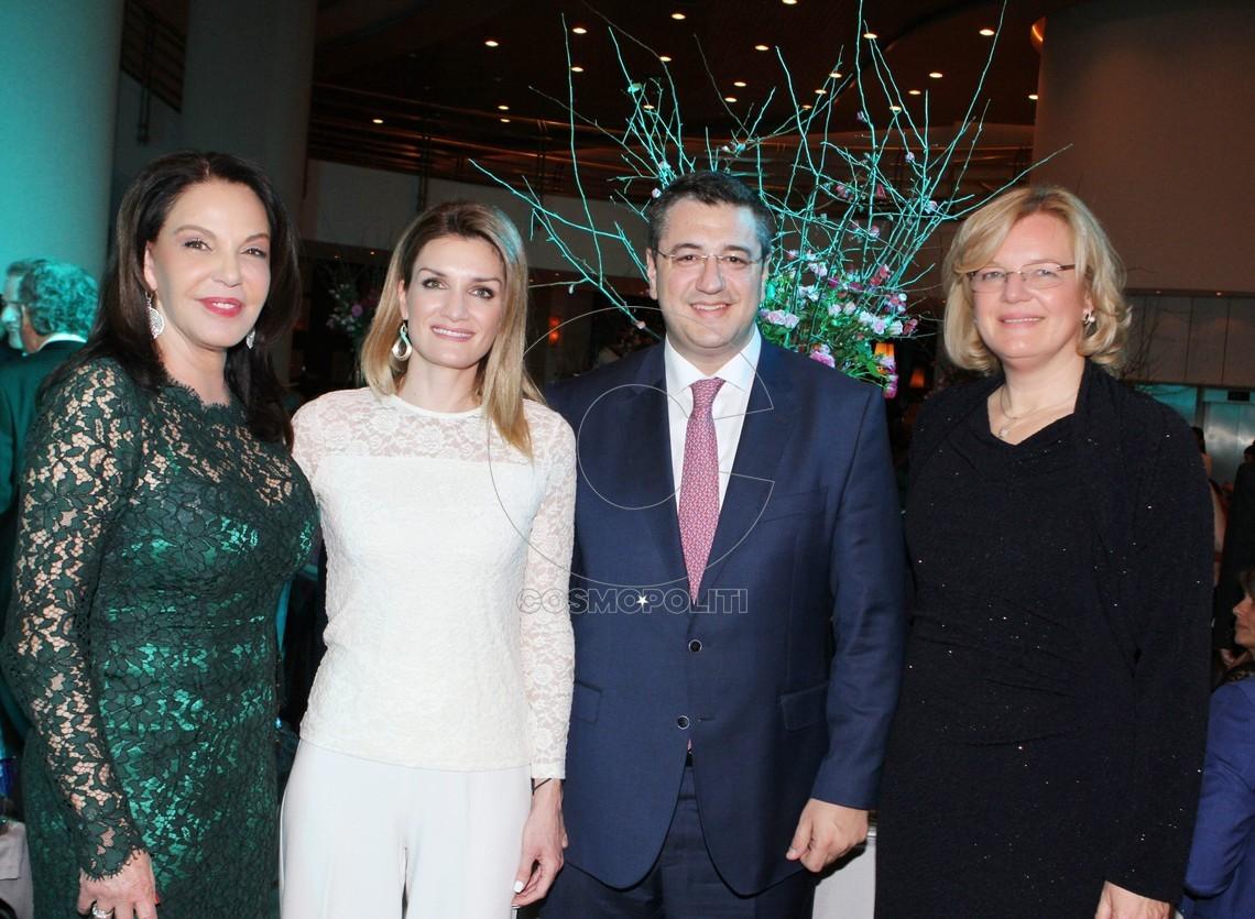 Κατερίνα Παναγοπούλου (Πρόεδρος ΚΑΛΛΙΠΑΤΕΙΡΑ) Ελεάνα & Απόστολος Τζιτζικώστα (Περιφερειάρχης) Andrea Bohm (Πρέσβης Αυστρίας)