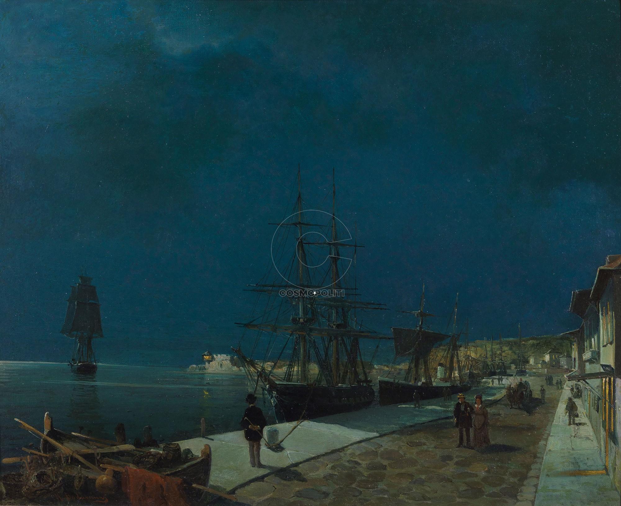 11A-Constantinos-Volanakis-Moonlit-harbour-Volos