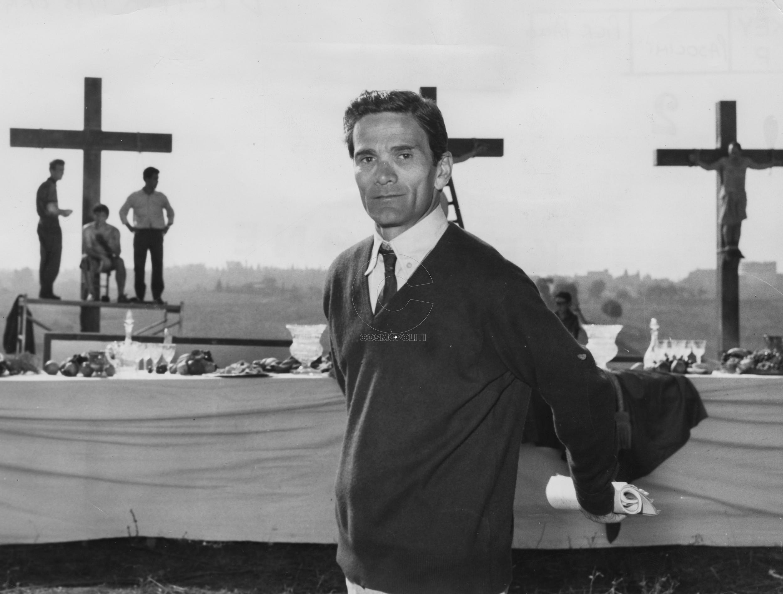 Pier Paolo Pasolini sul set di Il Vangelo secondo Matteo