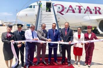 Η Μύκονος υποδέχτηκε την πρώτη ιστορική πτήση της Qatar Airways
