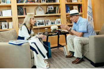 H Μαριάννα Β. Βαρδινογιάννη συνάντησε τον Βασίλη Βασιλικό