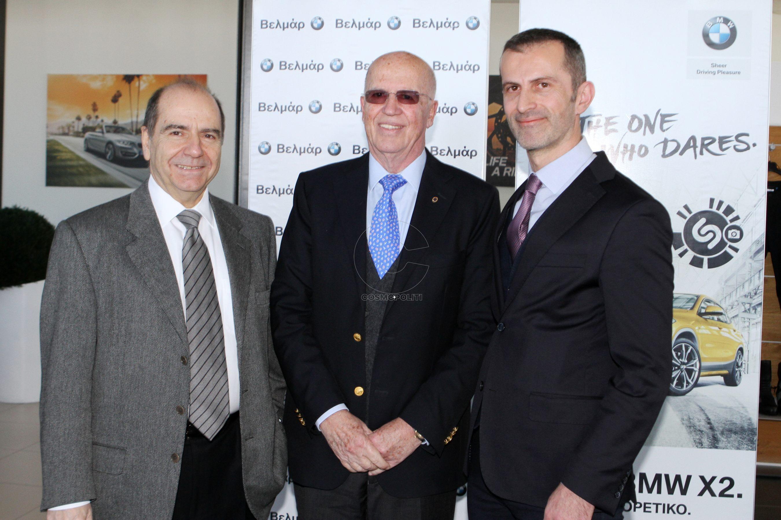 71 Δημήτρης Συμεωνίδης, Ρήγας Τζελέπογλου, Διευθυντής Πωλήσεων της BMW Βελμάρ Στέλιος Δάτσικας