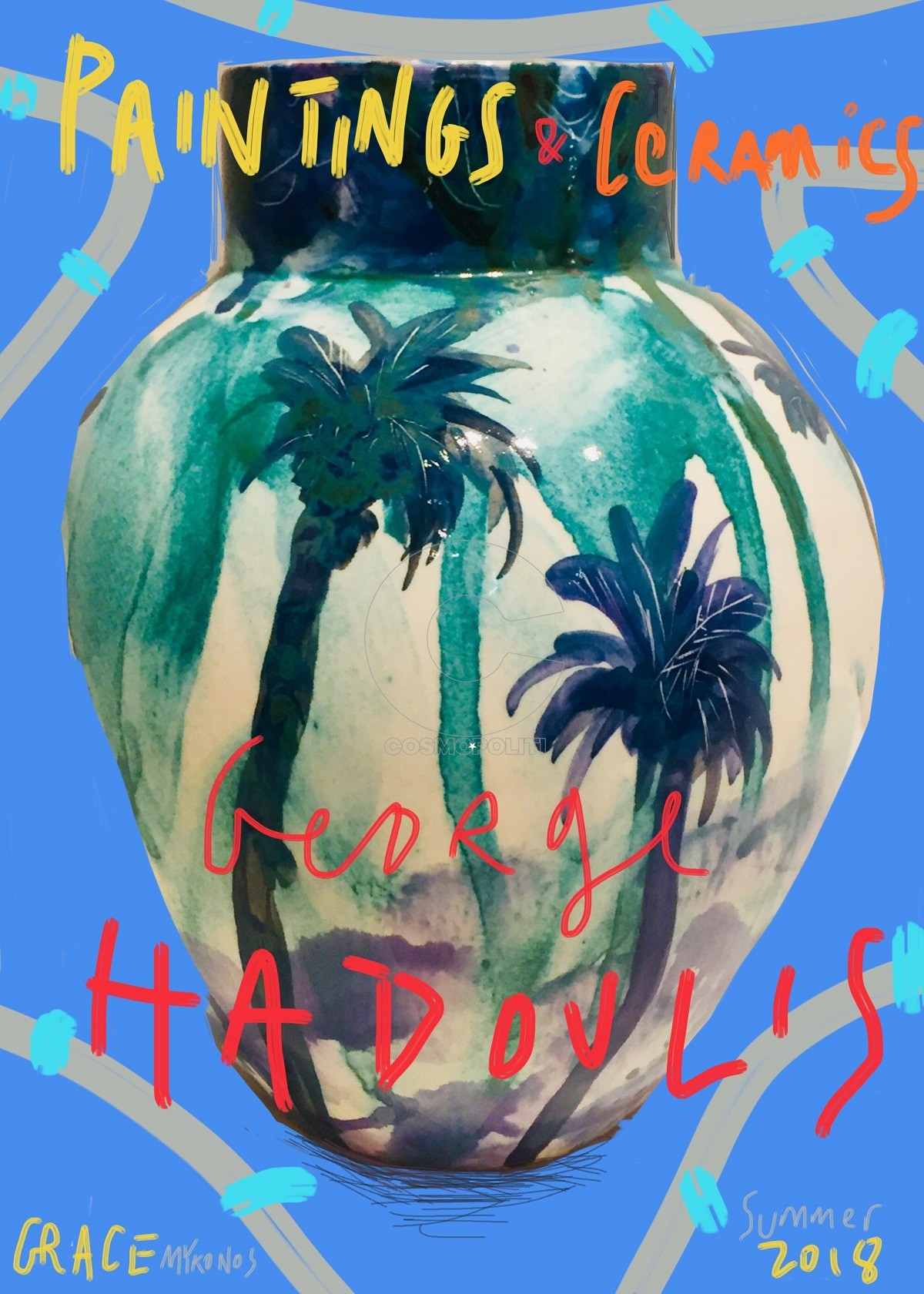George Hadoulis_PaintingsAndCeramics_GraceMykonos