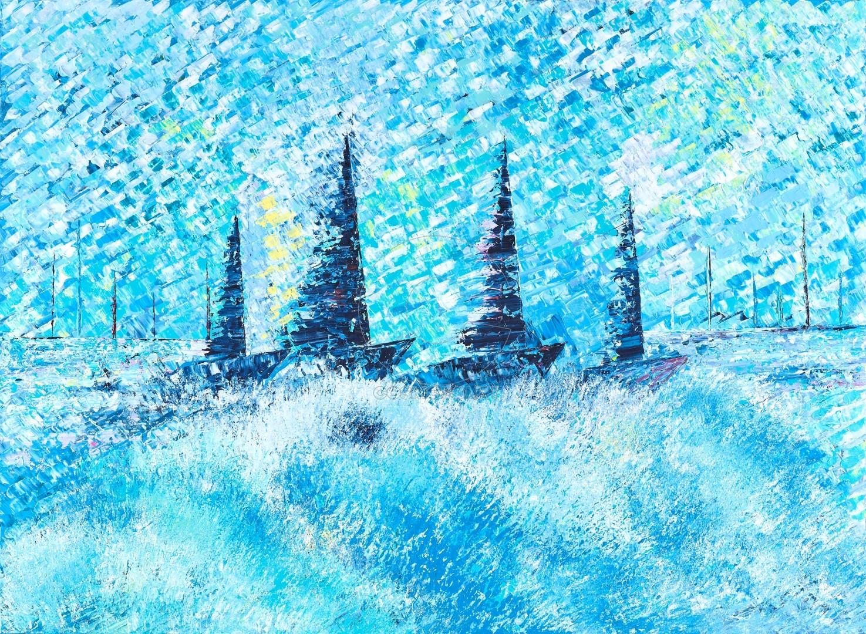 Ελένη Σαμέλη Βαρουξάκη, Going with the waves (Large)