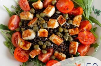 Συνταγή για σαλάτα με φακές Beluga