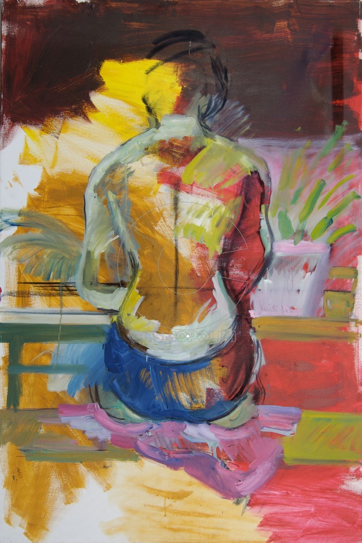 Antonis Antzoulidis, Waiting, 110x80cm, Oil on canvas