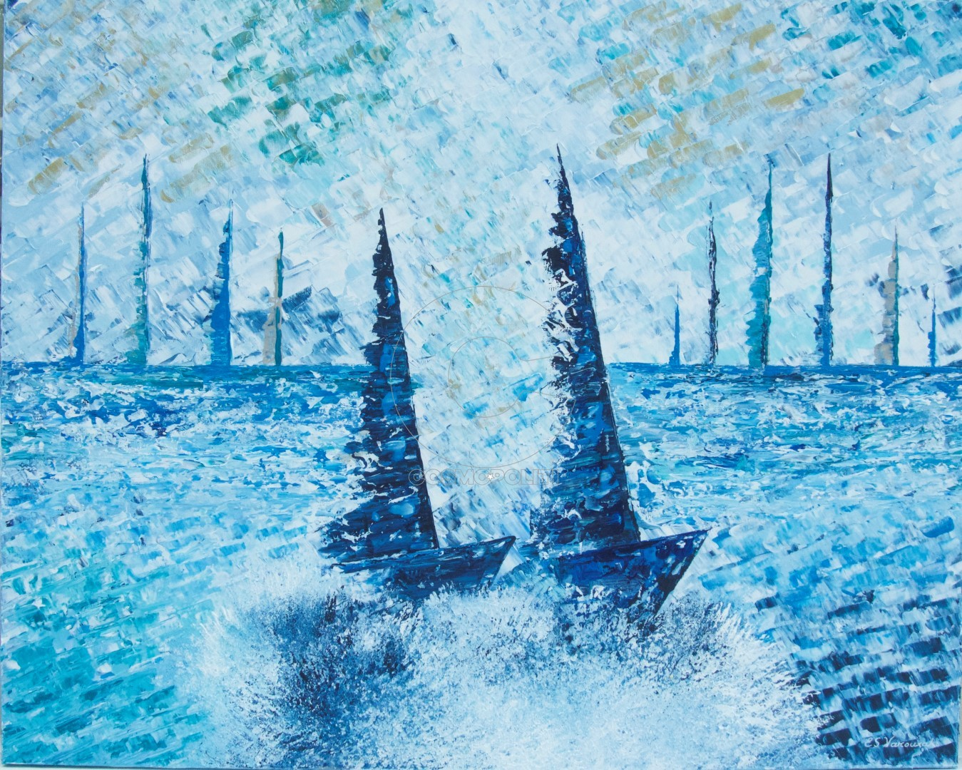 Eleni Sameli Varouxakis, Couleurs d'été 3, 100x80cm, Acrylics on canvas