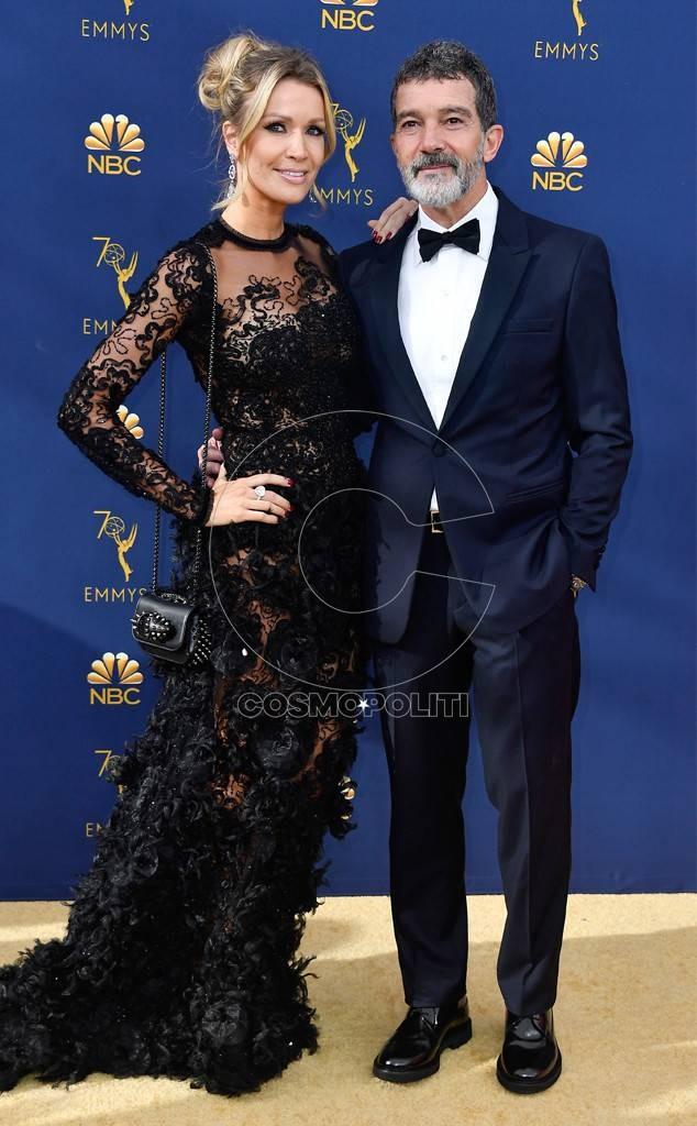 Antonio Banderas andhis girlfriend Nicole Kimpel
